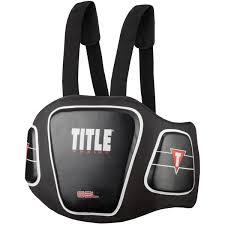 Title Boxing Gel Blunt Force Hook And Loop Body Protector Black