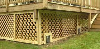 how to trim lattice around a deck foundation today u0027s homeowner