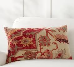remi printed lumbar pillow cover pottery barn