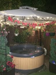 Lovely Hot Tub with fairy lights Go Outside Pinterest