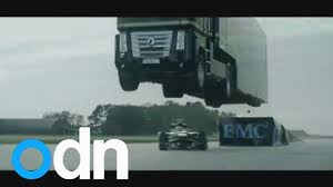 World Record Stunt: Giant Truck Jumps Over Speeding Lotus Racing ... The Lotus F1 Team Jumped A Semitruck Over One Of Their Race Cars Extreme Monster Truck Jumps Over Crushed Cars At The Trucks Vision 8 Inch Jumping Truck Raging Red Record Breaking Stunt Attempt Levis Stadium Jam Haul Windrow Norwich Park Mine Ming Mayhem Jumps Formula 1 Car In World Youtube Quincy Raceways Nissan Gtr Archives Carmagram Bryce Menzies New Frontier Jump Trophy Video Racedezert Incredible Video Brig Speeding Race Man From Moving Leaving Him Seriously Injured On
