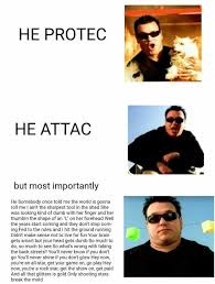 dopl3r com memes he protec he attac but most importantly he