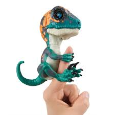 WowWee Untamed Raptor By Fingerlings Interactive Collectible Baby Dinosaur Fury Blue