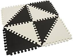 skip hop playspot geo foam floor tiles black cream amazon co uk