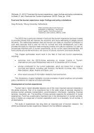 r ovation cuisine en ch e food and the tourism experience major pdf available