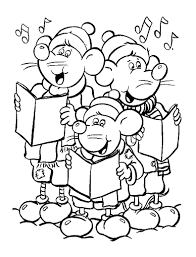 Rats Singing Christmas Song Coloring Pages