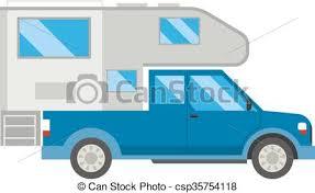 Ccaravan Travel Car Vehicle Trailer House Summer Vacation Vector