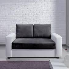 canapé design microfibre canapé bi matière microfibre simili et bicolore tao noir blanc2