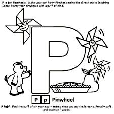 Alphabet P Coloring Page