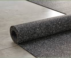Unrolling A Roll Of 20 Gray And 80 Black Tire Veneer Resilient Flooring