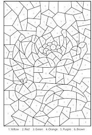 Color By Numbers Pages Free Printable Number Coloring For Adults
