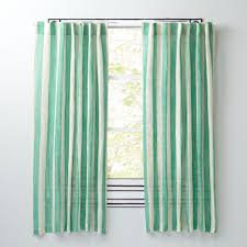 Green Striped Curtain Panels by Line Up Green 96