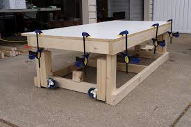 Woodworking Bench On Wheels Heavy Duty Work With Retractable
