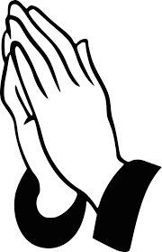 Open Praying Hands Drawing Coloring Page