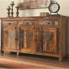 Coaster Rustic Acacia And Teak Cabinet With Doors