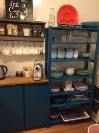 stilvoller ikea ivar küchenschrank in blau blau ikea