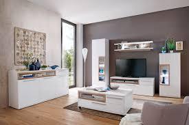 wohnzimmer parla 30 weiß hochglanz 6 teilig wohnwand mit led tisch expendio