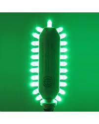 razr grnadap two pack green exit sign led light bulbs candelabra