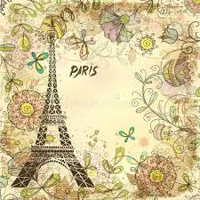 Vintage Paris Wallpaper Tower Background Stock Vector Download Illustration