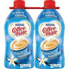 Coffee Mate Liquid Non Dairy Creamer French Vanilla 56 Oz 2 Ct