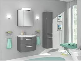 naka24 badmöbel set 60 grau hochglanz mit waschbecken