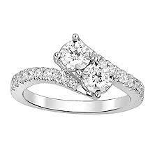 T W Eternally Us Diamond Engagement Ring in 14k Gold