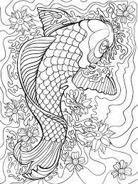 Koi Fish Coloring Pages Adult 6
