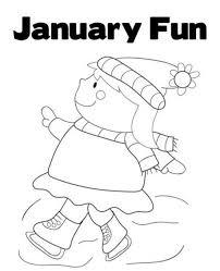 January Coloring Pages For Preschool Archives Free Online