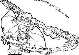 Lego Chima Cragger Poisoned By The Power Of Chi Coloring Pages