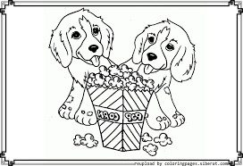 Cute Dog Coloring Pages Popcorn