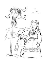 Click To See Printable Version Of Christmas In Norway Coloring Page