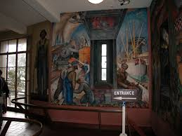 Coit Tower Murals Images by Telegraph Hill San Francisco Neighborhoods