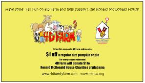 Basses Pumpkin Farm Groupon by Ronald Mcdonald House Charities Of Alabama