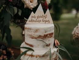 Mountain Cake Topper Rustic Wedding Sign Decoration 100