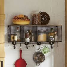 Wire Cubbie Shelf From Country Door Wall Mount Piece Has 4 Cubes 9 Hooks And A Top Metal Composite Wood With Rustic Painted