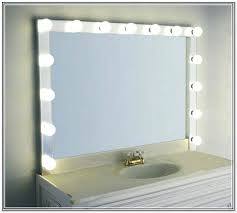 lighted makeup mirror wall mounted in bronze canadian tire