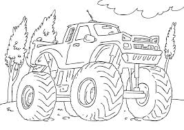 Full Image For Monster Truck Coloring Pages Free Printable Grave Digger