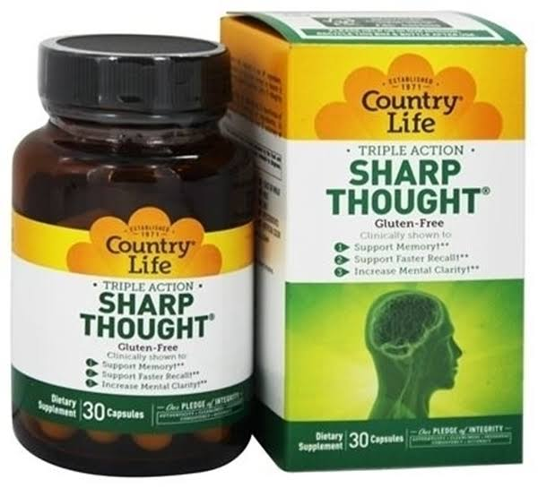 Country Life Sharp Thought - 30 Capsules