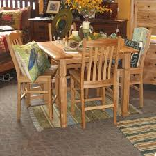 Square Adirondack Pub Set, Shown In Rustic Hickory - Amish Oak