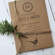 Rustic Style Wedding Stationery