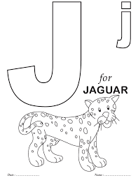 Printables Alphabet J Coloring Sheets