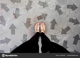 Gold Shoes Isolated On Concrete FloorTop View Woman Standing Is Feet Wearing Flip Flop Sandal The Cement Floor Background Great For Any Use