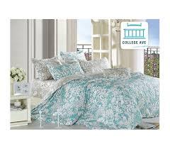 ashen teal twin xl comforter set college ave designer series