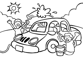Car Wash stock vector Illustration of graphic kids