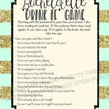 Printable Bachelorette Game Drinking Party Drink If