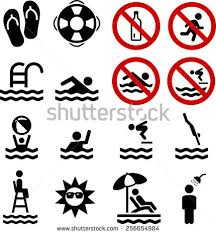 Swimming Pool And Diving Icons