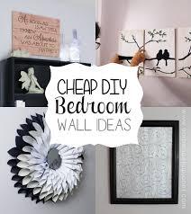 Cheap Classy DIY Bedroom Wall Ideas