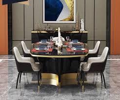 edler luxus design tisch ess zimmer wohn tische holz möbel metall modern barock