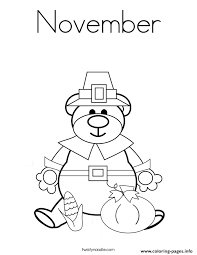 Thankful November Coloring Pages
