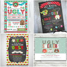Ugly Sweater Christmas Party Invitations Template Fresh O Glitter N Spice